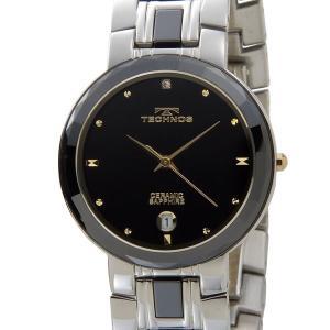 テクノス TECHNOS メンズ 腕時計 T9334TH セラミック×ステンレス ブラック×ゴールド|s-select