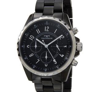 テクノス TECHNOS T9449BB クロノグラフ 24時間計 5気圧防水 ブラック×シルバー メンズ 腕時計|s-select
