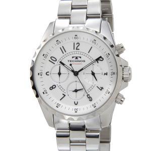 テクノス T9449SW TECHNOS クロノグラフ 24時間計 5気圧防水 シルバー メンズ 腕時計|s-select