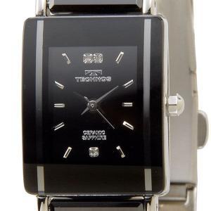 テクノス TECHNOS TAL742TB セラミック クォーツ ブラック×シルバー レディース腕時計|s-select