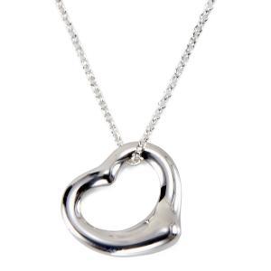 ティファニー Tiffany&Co. ネックレス レディース Open Heart オープン ハート ペンダント シルバー s-select