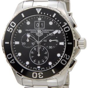タグホイヤー TAG Heuer CAN1010.BA0821 アクアレーサー グランドデイト クロノグラフ ブラック×シルバー メンズ腕時計 ブランド|s-select