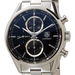 タグホイヤー TAG Heuer メンズ腕時計 カレラ オートマチック クロノグラフ ブラック CAR2110.BA0720 ブランド|s-select