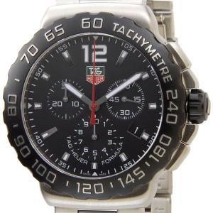 タグホイヤー TAG Heuer CAU1110.BA0858 フォーミュラー1 クロノグラフ ブラック×シルバー メンズ腕時計 ブランド|s-select