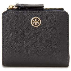 トリーバーチ TORY BURCH 二つ折り財布 54449 001 ロビンソン ミニ コンパクト財布 ブラック 新品 送料無料【送料無料】|s-select