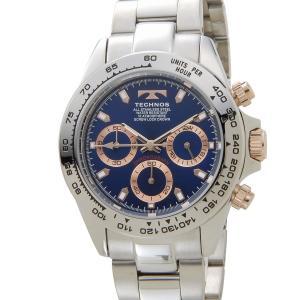 テクノス メンズ 腕時計 TECHNOS TSM411PN クロノグラフ 日本製ムーブメント ブルー【送料無料】 s-select