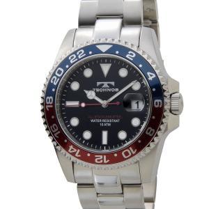 テクノス メンズ 腕時計 TECHNOS TSM412NB ダイバーズ 日本製ムーブメント ネイビー【送料無料】|s-select
