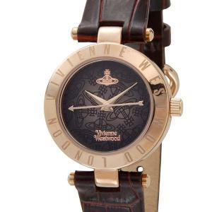 (増税前の大決算セール) ヴィヴィアンウエストウッド VIVIENNE WESTWOOD レディース 腕時計 ブラウン×ローズゴールド VV092BRBR|s-select