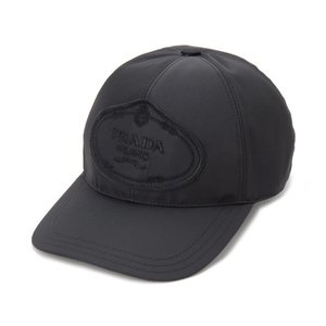 訳あり ロゴが歪んで付いている プラダ PRADA 帽子 ベースボールキャップ Sサイズ 1HC274 820 F0002 ナイロン キャップ  新品【送料無料】|s-select
