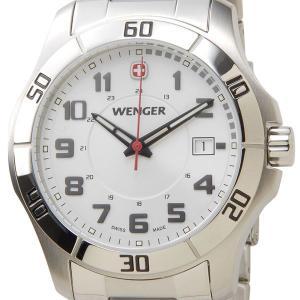 ウェンガー WENGER 70489 メンズ腕時計 ALPINE アルバイン ホワイト/シルバー ミリタリー アウトドア|s-select