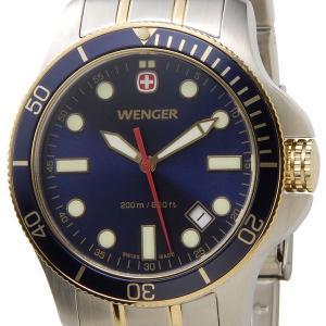 ウェンガー WENGER 72346 メンズ腕時計 バタリオン 200m防水 ブルー/ゴールド/シルバー ミリタリー アウトドア 時計 DEAL|s-select