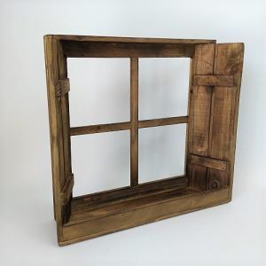 ディスプレーウィンドウBR ガーデニング 雑貨 窓枠 ウォールラック ラック シェルフ 花台 棚 木製 ガーデニング雑貨