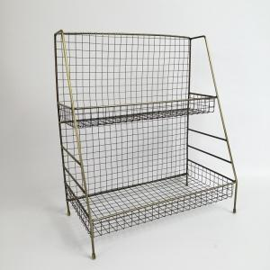 ディスプレーラック ガーデニング 雑貨 ラック シェルフ 花台 棚 アイアン 木製 ガーデニング雑貨
