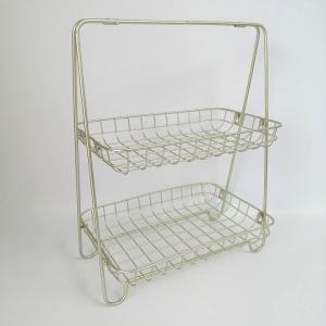 フラワースタンド 花台 アイアン ラック  ガーデニング雑貨 ジェルミ・ツーティアトレイ CG-US-18|s-toolbox
