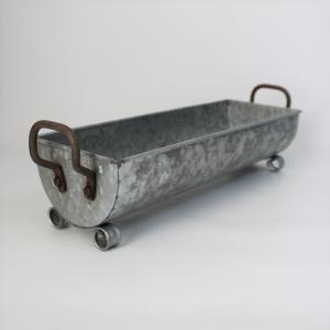 鉢 プランター ブリキ ブリキポット バケツ 植木鉢 鉢カバー ガーデニング雑貨 ハンドルブリキプランター CV-04-3489|s-toolbox