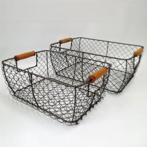バスケット かご ワイヤー アイアン ガーデニング雑貨 ワイヤーバスケット CV-04-3859|s-toolbox