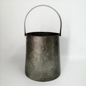 プランター ブリキ ブリキポット バケツ 植木鉢 鉢カバー ガーデニング雑貨 ロングバケツポット CV-04-4816|s-toolbox