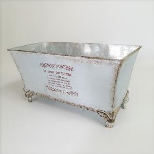 鉢 プランター ブリキ ブリキポット バケツ 植木鉢 鉢カバー ガーデニング雑貨 カブリオールロングポットBL MT-5645 s-toolbox