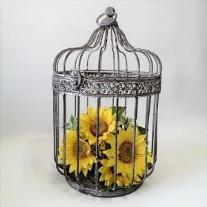 置物 庭 ガーデン オーナメント オブジェ プランツケージ バードケージ 鳥かご シャビーバードケージ MT-7085|s-toolbox