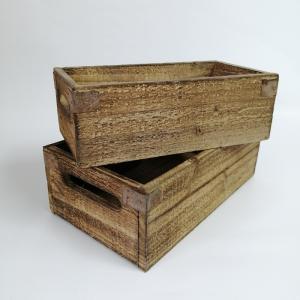 置物 庭 ガーデン オーナメント オブジェ 飾り ウッドボックスSET2 PL-1341|s-toolbox