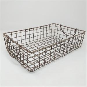 バスケット かご ワイヤー アイアン ガーデニング雑貨 スクエアバスケットS PL-63426|s-toolbox