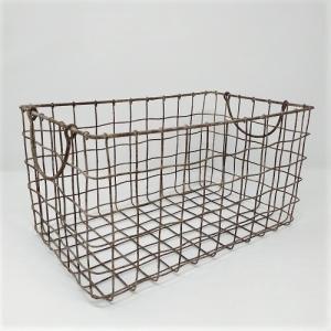 バスケット かご ワイヤー アイアン ガーデニング雑貨 スクエアバスケットL PL-63427|s-toolbox
