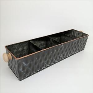 鉢 プランター ブリキ ブリキポット バケツ 植木鉢 鉢カバー ガーデニング雑貨 レクタンギュラプランター SK-CTC-457 s-toolbox