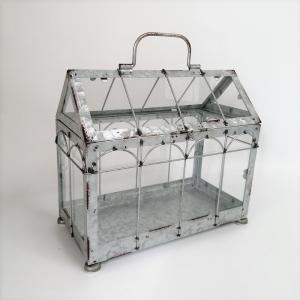置物 庭 ガーデン オーナメント オブジェ プランツケージ バードケージ 鳥かご ガラステラリウム SP-FJGK2961|s-toolbox