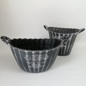 鉢 プランター 樹脂ポット 植木鉢 鉢カバー ガーデニング雑貨 ダンテルBKSET2 YZ-MS9627 s-toolbox