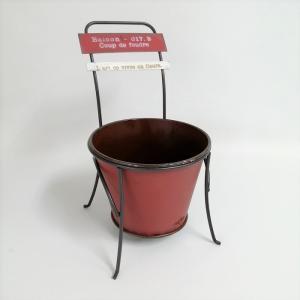 鉢 プランター ブリキ ブリキポット バケツ 植木鉢 鉢カバー ガーデニング雑貨 シェーズポットRD YZ-UN1146 s-toolbox