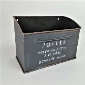 鉢 プランター ブリキ ブリキポット バケツ 植木鉢 鉢カバー ガーデニング雑貨 レキュペレワイドポストBK YZ-UN1184|s-toolbox