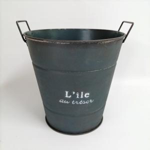 鉢 プランター ブリキ ブリキポット バケツ 植木鉢 鉢カバー ガーデニング雑貨 リルサークルDG YZ-UN1220 s-toolbox