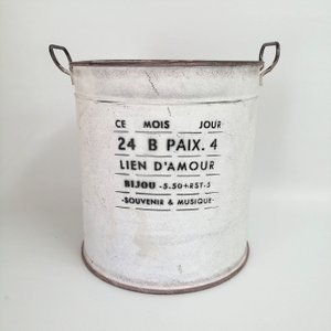 鉢 プランター ブリキ ブリキポット バケツ 植木鉢 鉢カバー ガーデニング雑貨 モアジュールラウンドWH YZ-UN1318|s-toolbox