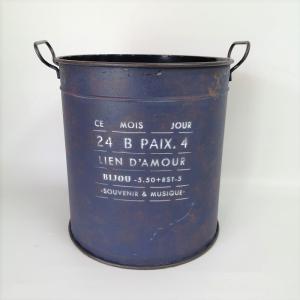 鉢 プランター ブリキ ブリキポット バケツ 植木鉢 鉢カバー ガーデニング雑貨 モアジュールラウンドBL YZ-UN1324|s-toolbox