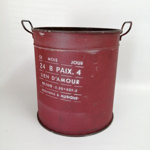 鉢 プランター ブリキ ブリキポット バケツ 植木鉢 鉢カバー ガーデニング雑貨 モアジュールラウンドRD YZ-UN1327|s-toolbox