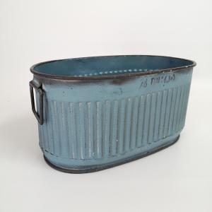 鉢 プランター ブリキ ブリキポット バケツ 植木鉢 鉢カバー ガーデニング雑貨 エタンオーバルBL YZ-UN1392|s-toolbox