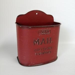 鉢 プランター ブリキ ブリキポット バケツ 植木鉢 鉢カバー ガーデニング雑貨 メールポシェットRD YZ-UN690|s-toolbox