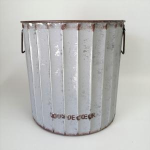 鉢 プランター ブリキ ブリキポット バケツ 植木鉢 鉢カバー ガーデニング雑貨 ロリエフポーサークルGY YZ-UN890|s-toolbox
