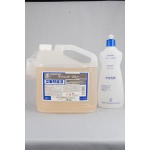 食器用液体中性洗剤 サンレットブルー 4.5kg|s-tsuhan