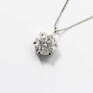 純プラチナ0.9ctダイヤモンドペンダント/ネックレス ベネチアンチェーン〔代引不可〕佐川急便で発送します|s-waza