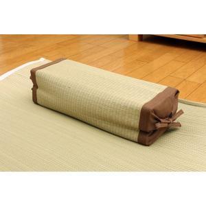 【商品名】 高さが調節できる い草枕 『高さが変わる枕 PP 箱付』 40×15cm(中材:PPパイ...