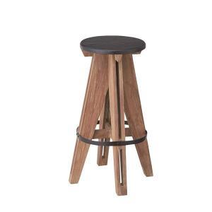 【商品名】 (2脚セット)東谷 アイザック ハイスツール チェア 木製(天然木) 高さ65cm NW...