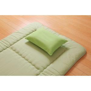 【商品名】 枕カバー 洗える ヒバエッセンス使用 『ひばピロケース』 グリーン 約43×63cm 【...