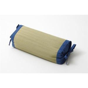 【商品名】 枕 まくら い草枕 消臭 ピロー 国産 無地 高さ調整 『モデル 角枕』 ブルー 約30...
