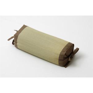 【商品名】 枕 まくら い草枕 消臭 ピロー 国産 無地 高さ調整 『モデル 角枕』 ブラウン 約3...