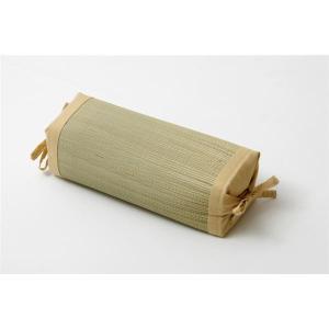 【商品名】 枕 まくら い草枕 消臭 ピロー 国産 無地 高さ調整 『モデル 角枕』 ベージュ 約3...