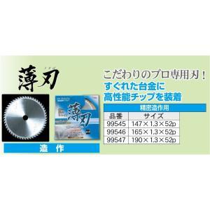 アイウッドチップソージャストスタイル・プロ99545造作用精密切断薄刃クロムメッキレーザースリット有り 外径147mm×刃厚1.3mm×52枚刃|s-waza