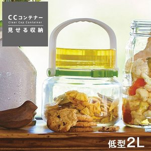 保存容器 プラスチック CCコンテナー低型2L|s-zakka-show