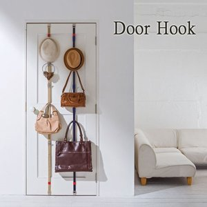 扉に付けられる収納 フック付ベルト 壁掛け収納 ドアフック s-zakka-show
