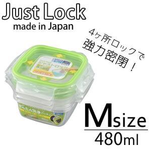 保存容器 プラスチック パックスタッフ ジャストロック 正方形 Mサイズ 3個入|s-zakka-show